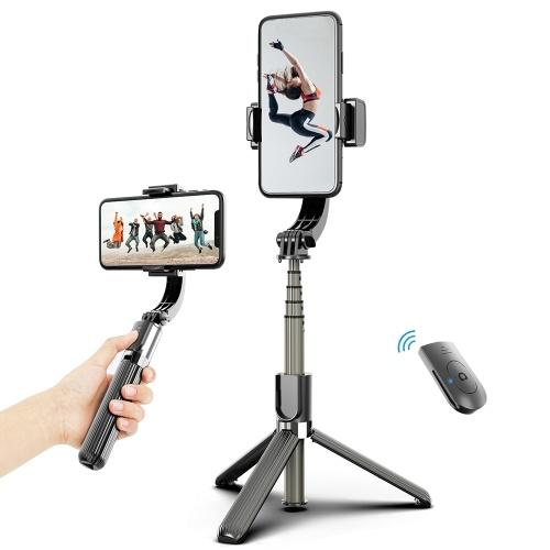 3 em 1 telefone cardan estabilizador selfie vara tripé