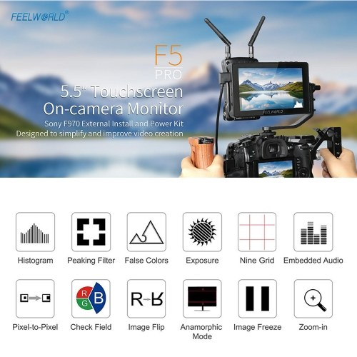 FEELWORLD F5 Pro Video Monitor Camera Field Monitors