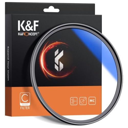K & F CONCEPT 82 мм ультра тонкий многослойный MC UV HD фильтр для линз D8881-5