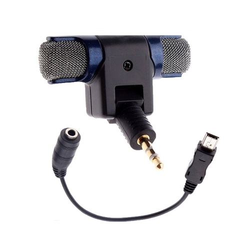 Stereo Microphone 3.5mm Plug with USB Aadapter Cable