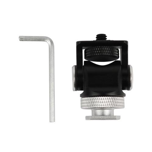 Mini-Adapterhalterung für Kaltschuhhalterung Alumimun-Legierung 1/4 Zoll Schraubverbinder