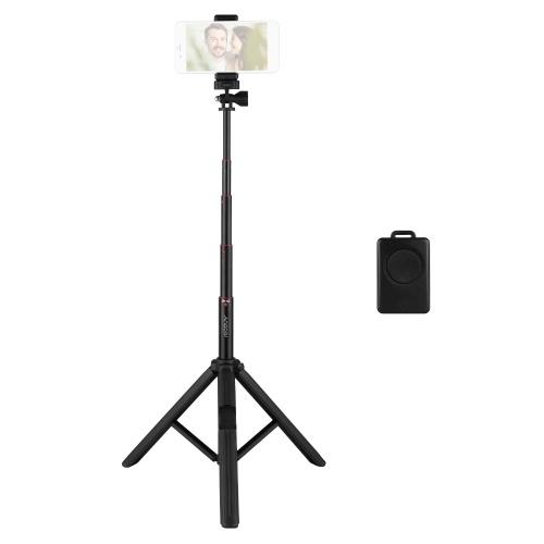 Support de trépied Andoer Trépied de téléphone portable extensible portable Selfie Stick