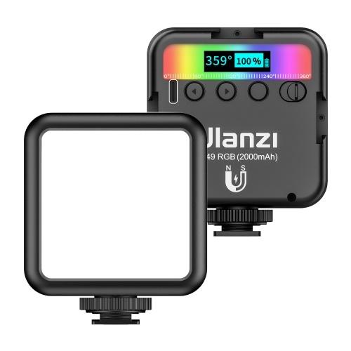 ulanzi VL49 RGB luz de vídeo LED de bolso para fotografia luz de preenchimento