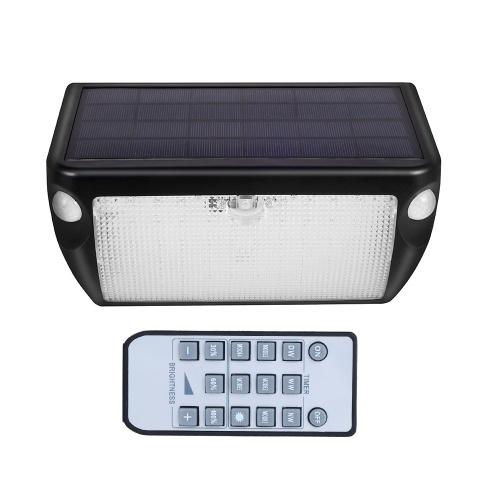 Luz solar Luz de sensor de doble cabeza para exteriores Control remoto Control de sonido Luz de puerta