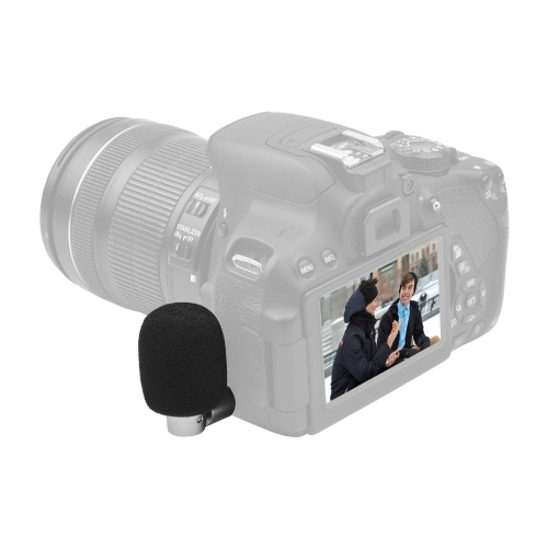 BOYA  BY-P4A Omnidirectional Condenser Microphone Mini Mic with Windscreen 3.5mm TRS Plug for Camera Camcorder Vlog Shooting Live Stream Interview