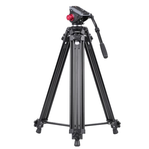 Andoer Professional fluid head tripod, 72inch/185cm Portable Video Camera Tripod, Heavy Duty Tripod with Detachable Fluid Drag Pan Tilt Head for Camcorder Video camera