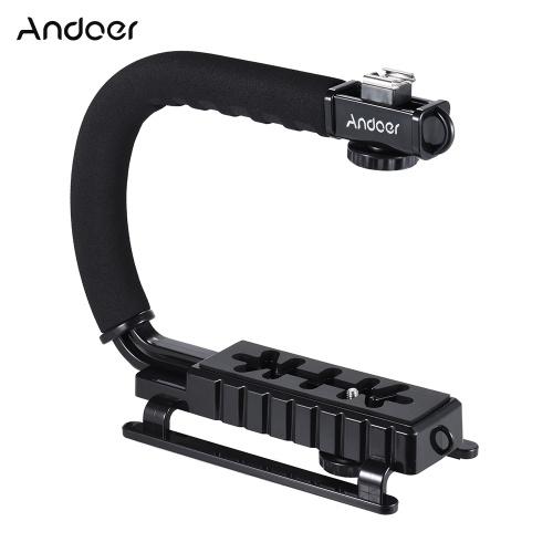 U/C Shaped Flash Bracket Holder Handle Hanheld Action Stabilizer Grip for Canon Nikon Sony Gopro SJCAM Xiaomi Yi Camera Camcorder Mini DV DSLR SLR