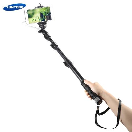 Yunteng YT-1188 Telewizja Przewodowa Wysuwana kijek do selfie Polak monopod Samowyzwalacz z klipsem Phone 1/4
