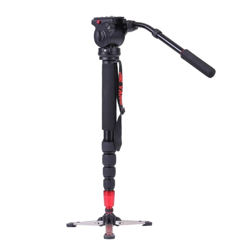 JY0506 Professional Aluminum Alloy Monopod with Fluid Head Capacity 4kg