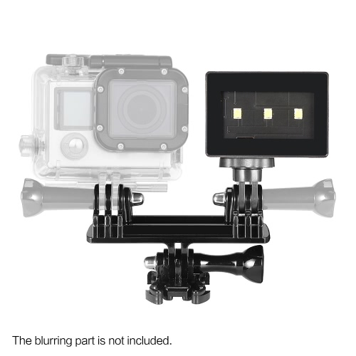 Super Mini Portable Photography Shooting Video LED Light Lamp for Gopro 3 / 3+ / 4 Action Sports Camera