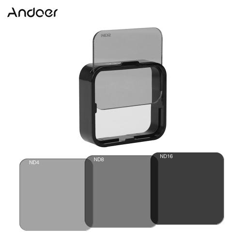 AndoerスクエアNDレンズフィルターのGoPro Hero4 / 3 + / 3ワット/マウントフレームホルダー用のプロテクターキットセット(ND2 / ND4 / ND8 / ND16)