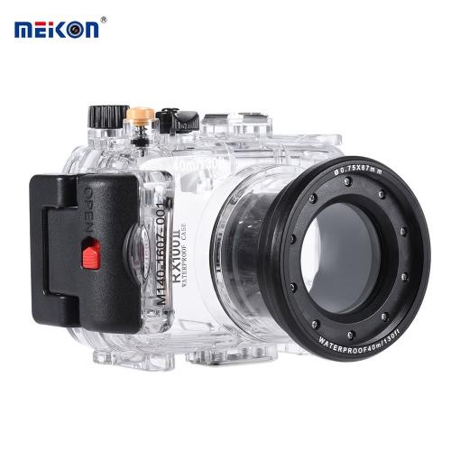 MEIKON SY-6 40 m / 130 pies bajo el agua a prueba de agua carcasa de la cámara caja de la cámara a prueba de agua transparente para Sony RX100 II