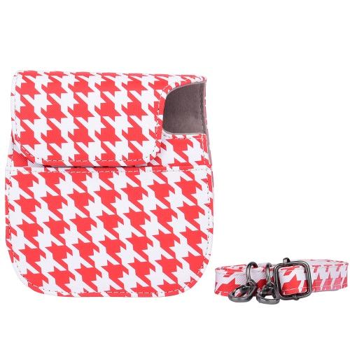 Compact nette reizende PU-Leder Schutzkameratasche Tragetasche Beutel Abdeckungs-Schutz-w / Schultergurt Album Tasche für Fujifilm Instax Mini 8 + / 8s / 8