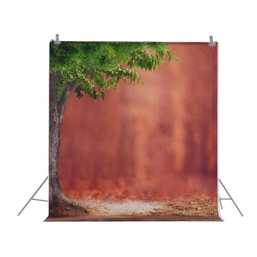 1,5 * 2m backdrop Photographie Ordinateur Arbre Imprimé Motif