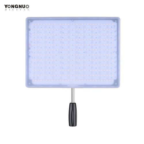 YONGNUO YN600 RGB Professional 5500K+RGB LED Video Light Soft Light Slim & Light Design Adjustable Brightness CRI≥95 with Remote Controller Support APP Remote Control Studio Lighting