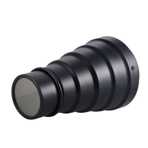 Balcaマウントスタジオのストロボ写真ライト用ハニカムグリッドクリニークカラーフィルターとアルミ合金コニカル鼻であしらいます