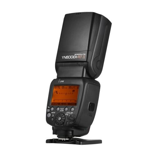 YONGNUO YN600EX-RT II Professionelle Kreative TTL Master Flash Speedlite 2.4G Wireless 1 / 8000s HSS GN60 Unterstützung Auto / Manuell Zooming für Canon-Kamera als 600EX-RT YN6000 EX RT II