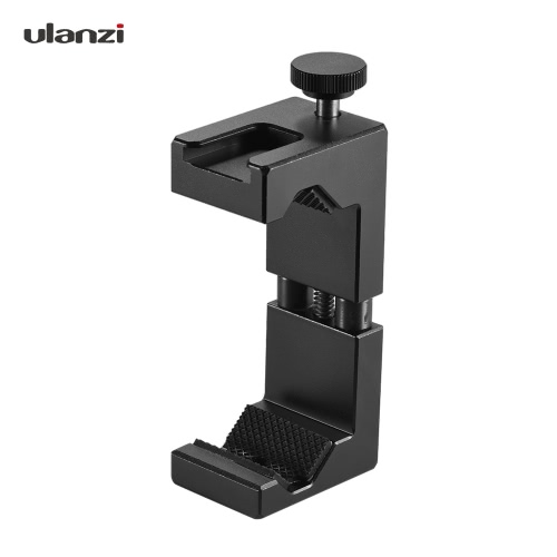 Ulanzi Adjustable Smartphone Clip Holder Clamp Bracket Aluminum Alloy with Cold Shoe Mount 1/4
