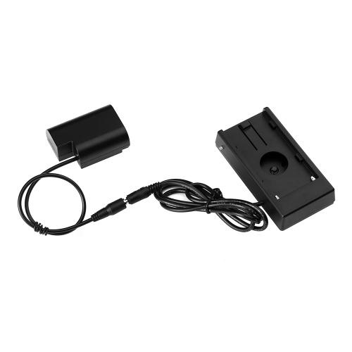 Andoer NP-F970 à DMW-DCC12 Adaptateur de batterie factice entièrement décodé avec connecteur DC Couple pour Panasonic DMC-GH3 DMC-GH4 DMC-GH3K DMC-GH4K GH5 Appareil photo numérique