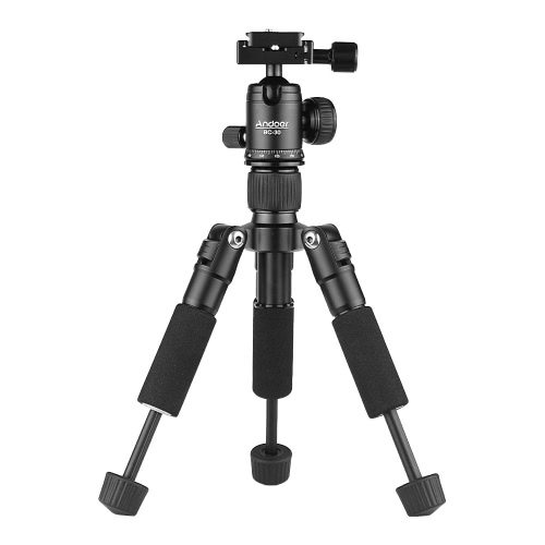 Andoer BC-30 Mini Tabletop Tripod Stand with Ball Head 1/4