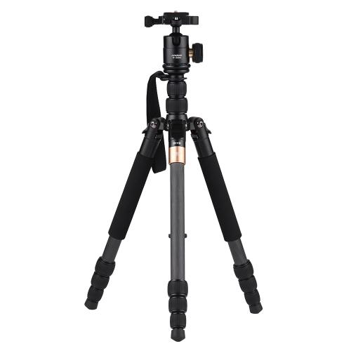 Andoer TP-668SC Portable Trépied en fibre de carbone photographie voyage trépied
