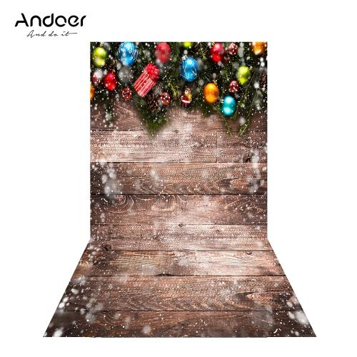 Andoer 1.5 * 0.9m / 4.9 * 3.0ft Boże Narodzenie Tło Fotografia Tło