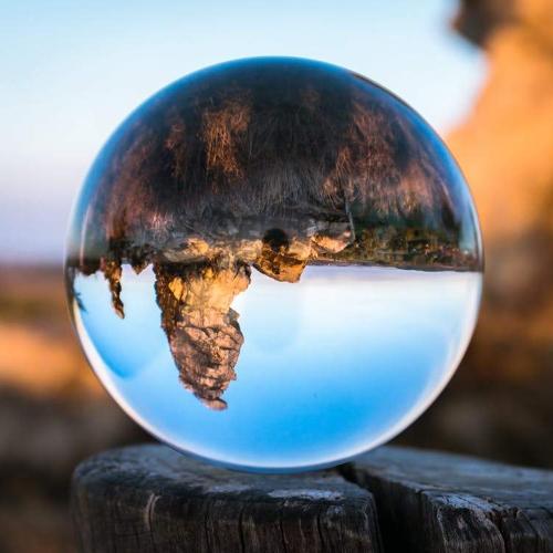 Przezroczysta kryształowa kula Dekoracja domu Stałe szkło fotograficzne Różny kąt świata 130 mm