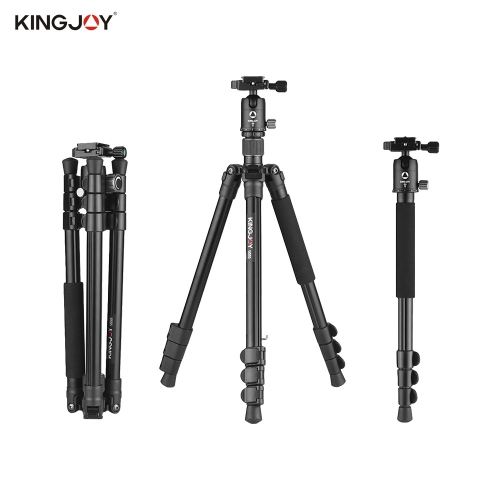 Kingjoy G555+G0 Aluminum Alloy 4-Section Travel Tripod