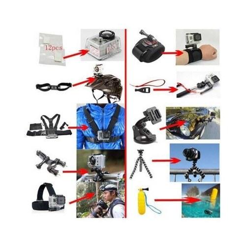 Accesorios de cámara multifuncional Herramientas de cámara para cámaras de fotografía al aire libre Herramienta de protección para gopro hero 6 5 4 3 kit 3 vías de selfie stick para Eken h8r / para xiaomi para yi Funda de EVA VS77