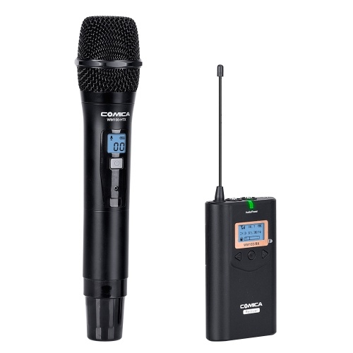COMICA CVM-WM100H 48-Channel UHF Wireless Handheld Microphone System D5646