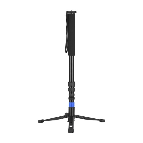 Aluminum Alloy Twist Locking Heavy Duty Monopod Camera Unipod with Unipod Holder 1/4 Inch 3/8 Inch Screw Mounts for DSLR ILDC Camera Camcorder DV 4-Sections Up to 67 Inch Max. Load Capacity 5kg