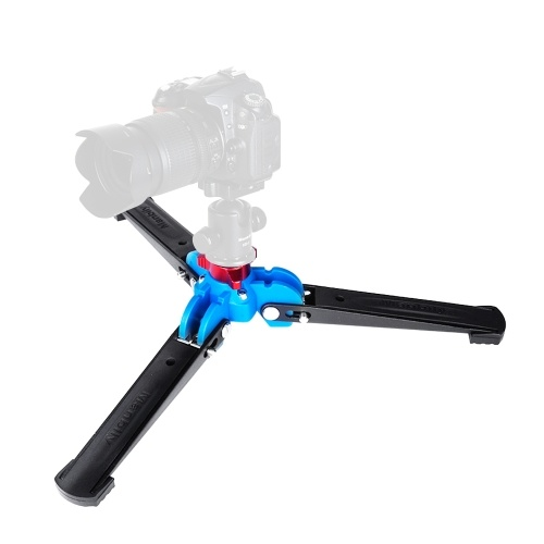 """Manbily M-1 Portable Universal Mini Three Feet Support Tripod Stand Base Monopod Stand for Monopod Ball Head with 3/8"""" Screw D6576"""