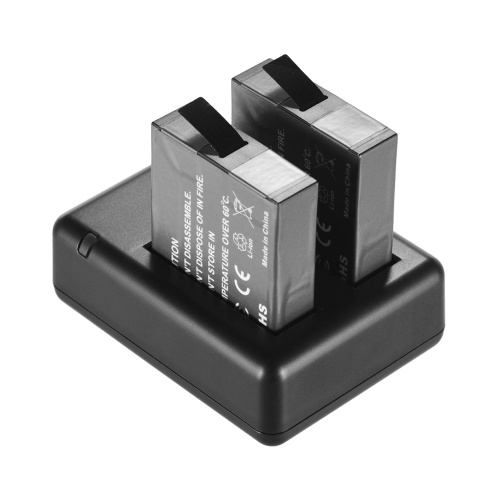 Tragbares Akkuladegerät für zwei Kameras
