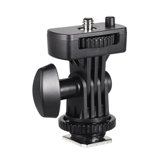 Flexible Cold Shoe Mount Adapter with 1/4 Inch Screw