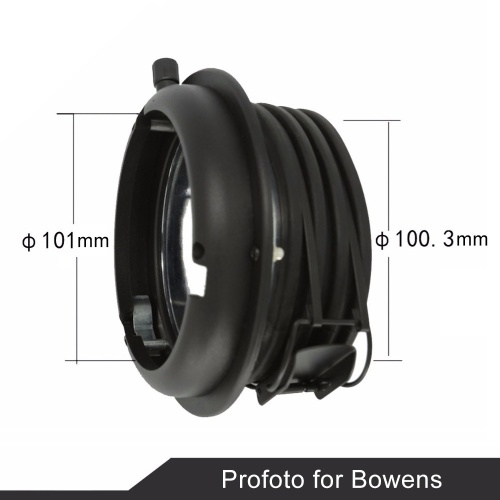 Andoer Metal Interchangeable Mount for Bowens Mount Accessories to be Used for Profoto Flash