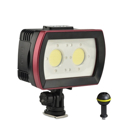 Seefrösche SL-21 LED Tauchlampe Unterwasserfotografie Einfülllampe 2 Stk. LEDs Aluminiumlegierung 40M wasserdicht IPX8 mit weißen (stark-schwach-SOS) / roten / blauen Lichtern max. 3500LM