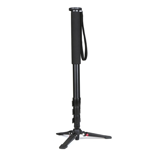 Multifunctional Photography Camera   Monopod Aluminum Alloy with Detachable Tripod Stand Base 1/4 Inch & 3/8 Inch Screw Mount 600-1640mm Adjustable Height Max. Load 25kg