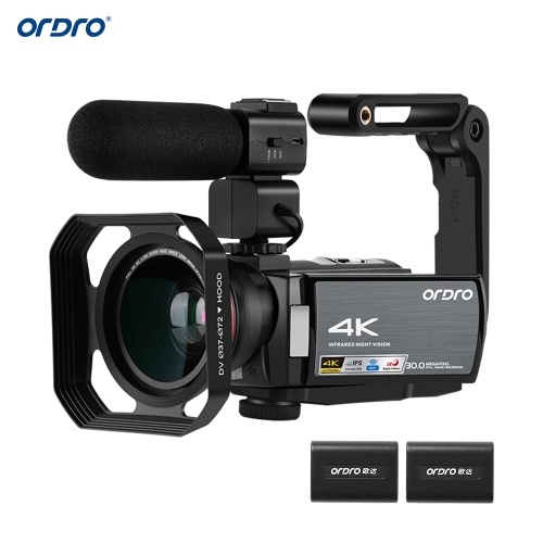 ORDRO HDV-AE8 4K WiFi Cámara de video digital Videocámara Grabadora DV