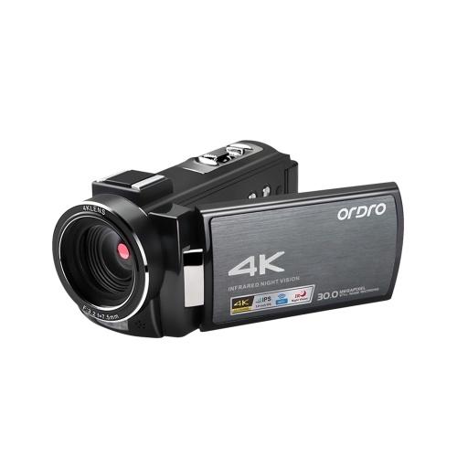 ORDRO HDV-AE8 4K WiFi caméra vidéo numérique caméscope enregistreur DV