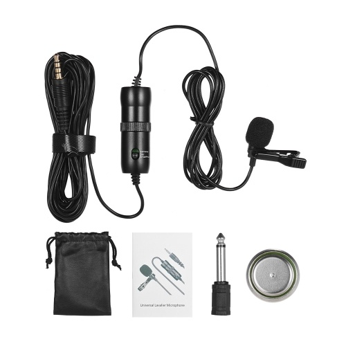 ACEMIC Single Head Lavalier Microphone Mic Revel Clip-on Omni-directional Condenser