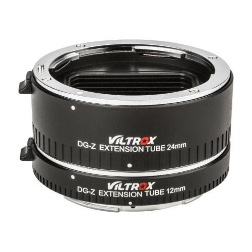 Viltrox DG-Z Автоматические удлинители для макросъемки 12 мм 24 мм Металлический цоколь адаптера с полной рамкой Автофокус Авто экспозиция TTL замер