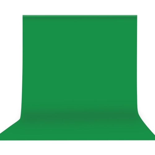 Andoer 3 * 3m / 10 * 10ft Professional Green Screen Backdrop Studio Photography Background Washable Durable Polyester-Cotton Fabric Seamless One-Piece Design for Portrait Product Shooting