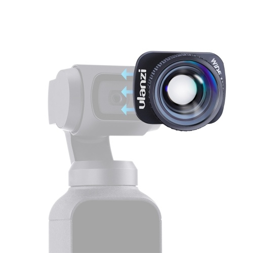Ulanzi 4K Grand Angle Lens Camera Lens 100 ° HD Magnetic Mount Compatible avec DJI OSMO Pocket Gimbal Accessories
