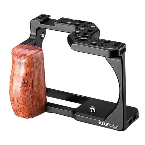 UURig Kamerakäfig aus Aluminiumlegierung 1/4 Kaltschuhhalterung Arri Positionierungsloch