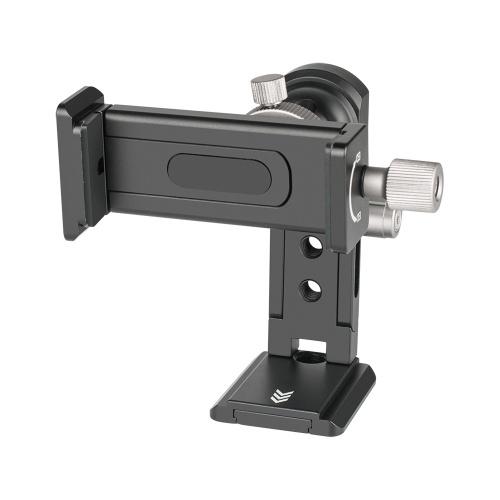 Andoer SJ-04 Clip de téléphone Support de téléphone portable Pince Support de bureau Alliage d'aluminium Rotation de 720 °