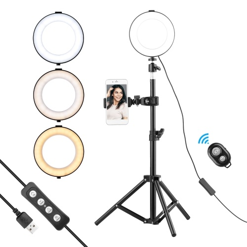 6 Inch Ring Light Selfie Beauty LED Light USB Photography Light
