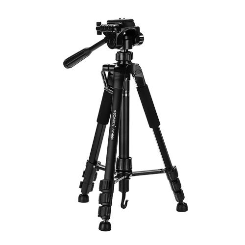 SOMITA ST666 Portable Light Aluminum Alloy Camera Tripod