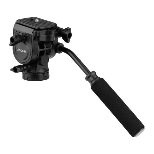 Fotografia panoramica con testa a sfera idraulica fluida Andoer Max. Carica 5 kg con la maniglia
