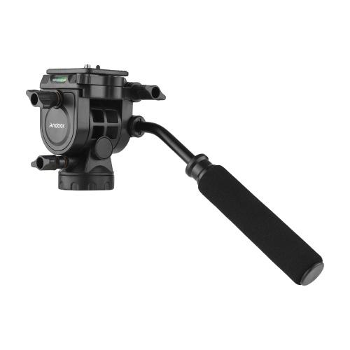Andoer Fluid Hydraulischer Kugelkopf Panoramafotografie max. Laden Sie 5 kg mit dem Griff