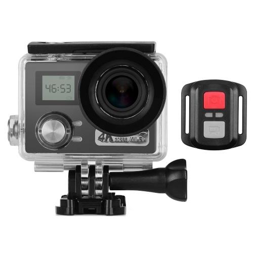 Videocamera d'azione con doppio schermo LCD 4K